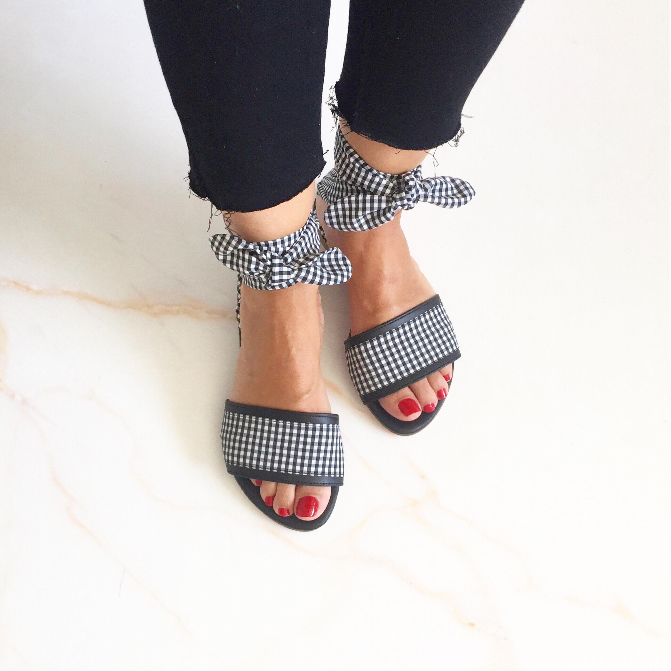 Vichy Sandals